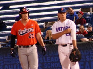 Auburn and Florida baseball players