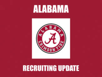 Alabama logo and text Alabama recruiting update