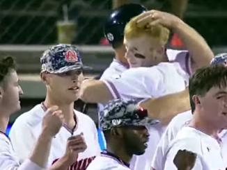 auburn baseball celebrates