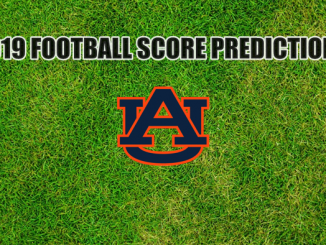 Auburn logo on grass