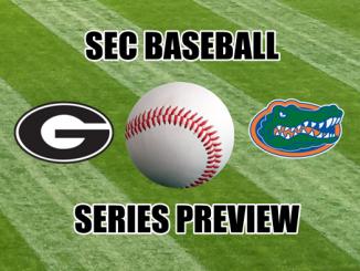 Georgia and Florida logos with baseball