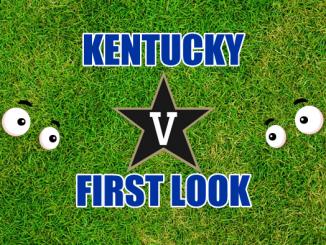 Eyes on Kentucky and Vandy logos