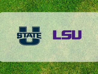Utah State and LSU logos