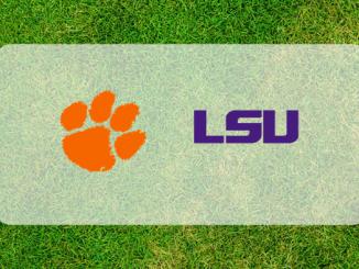 Clemson and LSU logos