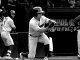 Georgia baseball player bunts