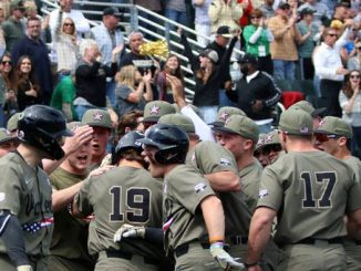 Vanderbilt baseball players celebrate