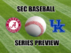 Kentucky-Alabama baseball series preview