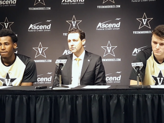 Bryce Drew, Saben Lee and Yanni Wetzell