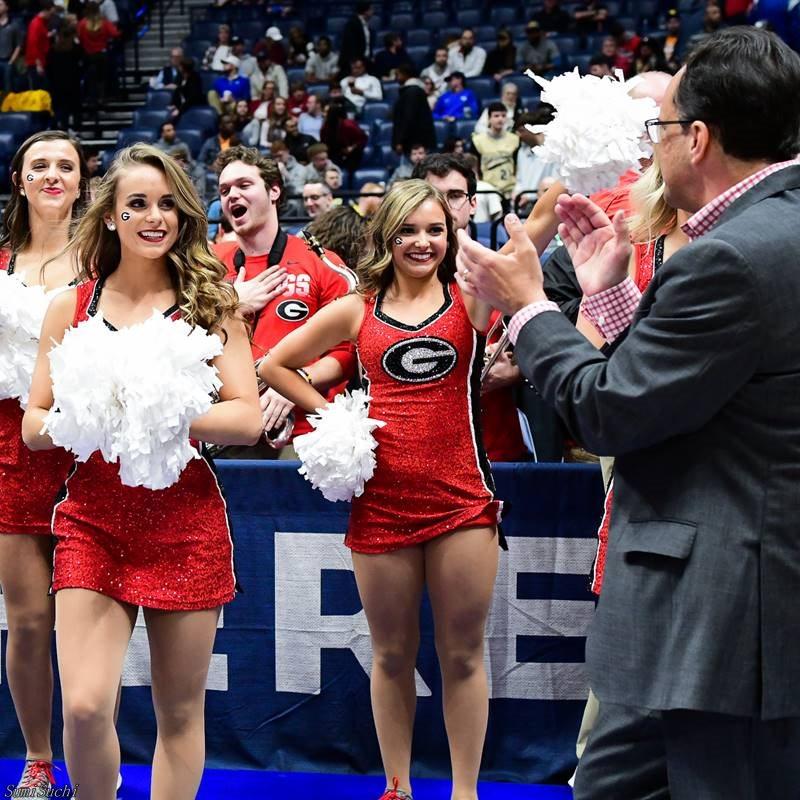 Tom Crean and Georgia Cheerleaders