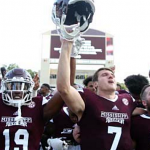 Mississippi State football players celebrate
