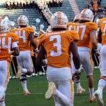 Tennessee players run through T