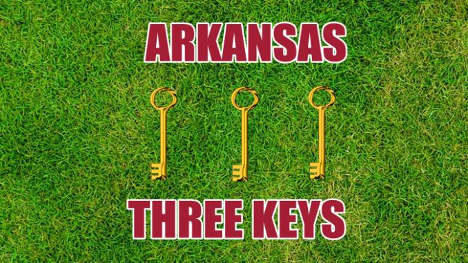 Arkansas football three keys