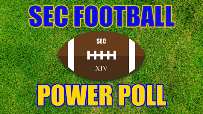 SEC Football Power Poll