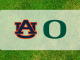 Auburn Oregon logos on grass