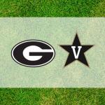 Georgia-Vanderbilt logos on grass