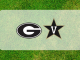 Georgia-Vanderbilt logos on grass
