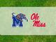Ole Miss-Memphis logos on grass
