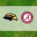 Alabama and Southern Miss logos