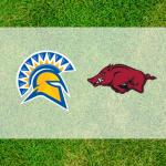 Arkansas and San Jose State logos