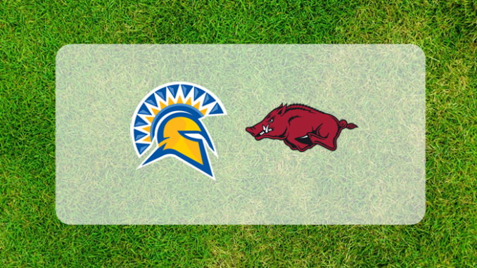 Arkansas and San Jose State logos