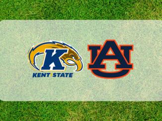 Auburn and Kent State logos