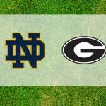 Georgia and Notre Dame logos