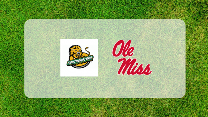 Ole Miss and SE Louisiana logos