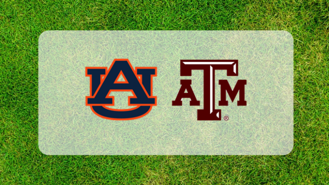 Auburn and Texas A&M logos