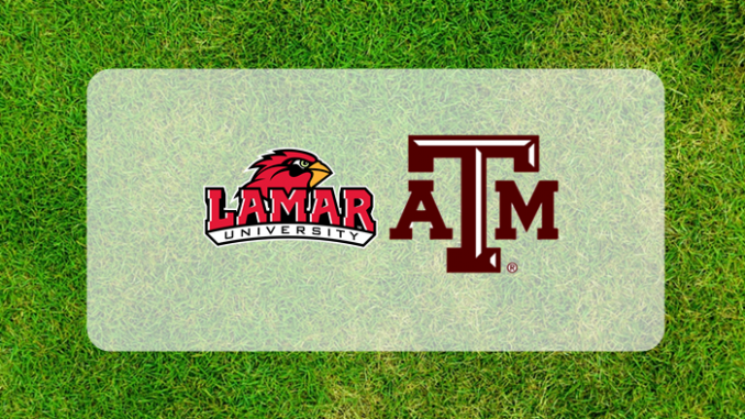 Texas A&M and Lamar logos