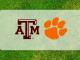 Texas A&M and Clemson logos