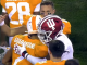 Tennessee player hugs Indiana player