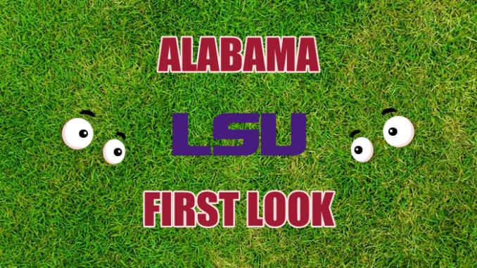 Alabama football first-look LSU