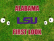 Alabama football first-look LSU