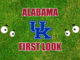 Alabama football first-look Kentucky