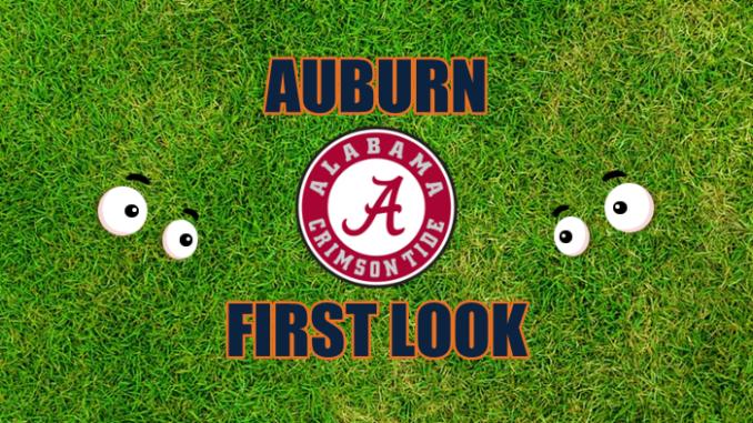 Auburn First-look Alabama.
