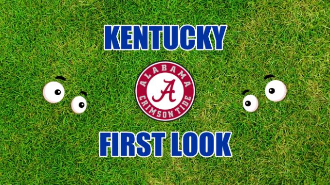 Kentucky football first-look Alabama
