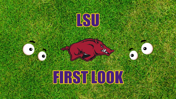 LSU football First-look Arkansas