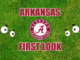 Arkansas football first look Alabama