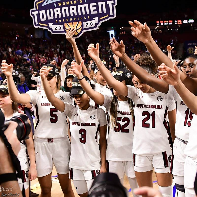 South Carolina vs. Mississippi State women's basketball photo by Suman Pakala