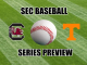 South Carolina and Tennessee logos with ball