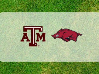 Texas A&M and Arkansas logos