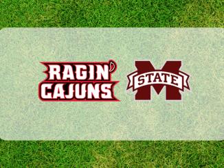 Memphis and Louisiana Logos on Grass Field