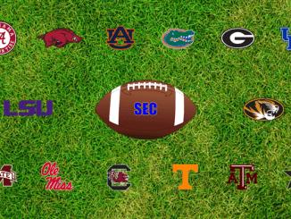 SEC logos on green field