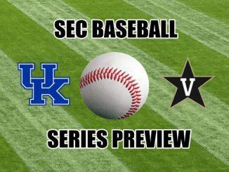 Kentucky and Vanderbilt logos with baseball