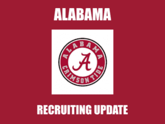 Alabama logo and text Alabama recruiting update
