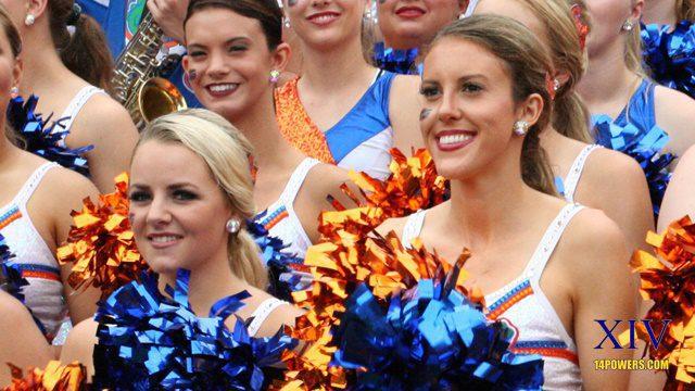 Florida cheerleaders smile